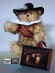 Steiff 657610 REMBRANDT TEDDY BEAR WITH MUSIC BOX 2006