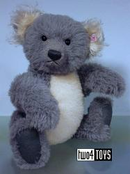 Steiff 661792 KOALA TED TEDDY BEAR GRAY WHITE ALPACA UK 2005