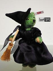 Steiff 661860 WIZARD OF OZ MINI WICKED WITCH TEDDY BEAR