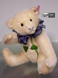 Steiff 677144 BLUE ROSE TEDDY BEAR JAPAN 2011