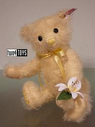 Steiff 677700 YURI LILY FLOWER TEDDY BEAR MEIKA SERIE JAPAN 2014