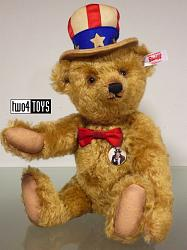 Steiff 683107 UNCLE SAM TEDDY BEAR USA