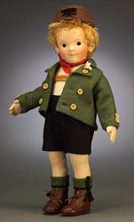 Steiff & R. John Wright 710223 KINDER SERIES FELT DOLL LUKAS