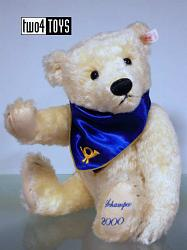 Steiff 995705 SCHAMPUS CHAMPAGNE TEDDY BEAR POST MUSEUM 2000