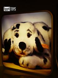 Steiff 000 PROMOTIONAL LIGHT BOX DISPLAY WITH DALMATIAN DOG