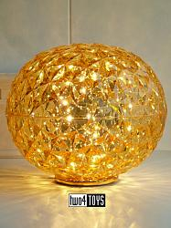 Kartell PLANET TABLE LAMP YELLOW GOLD / Design: Tokujin Yoshioka